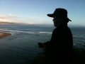 silhouetted man in bolinas