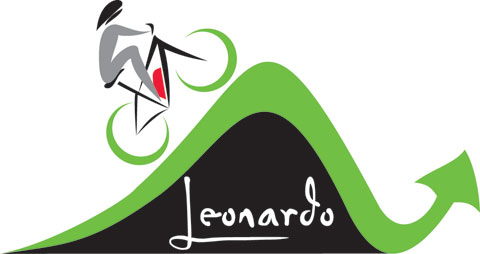 Leonardo Cycles biker and arrow