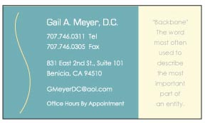 Business Card for Chiropractor