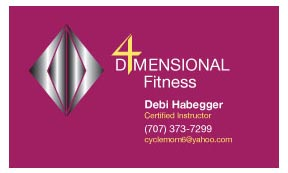 Business Card for Fitness Professional