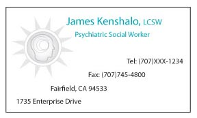 Business Card for Psychological Social Worker