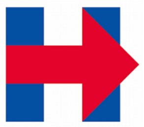 Hillary logo with arrow