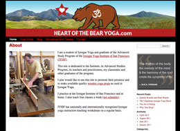 Heart of the Bear Yoga website